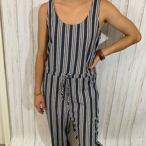 Drew Linen Jumpsuit Anthropology NWT striped